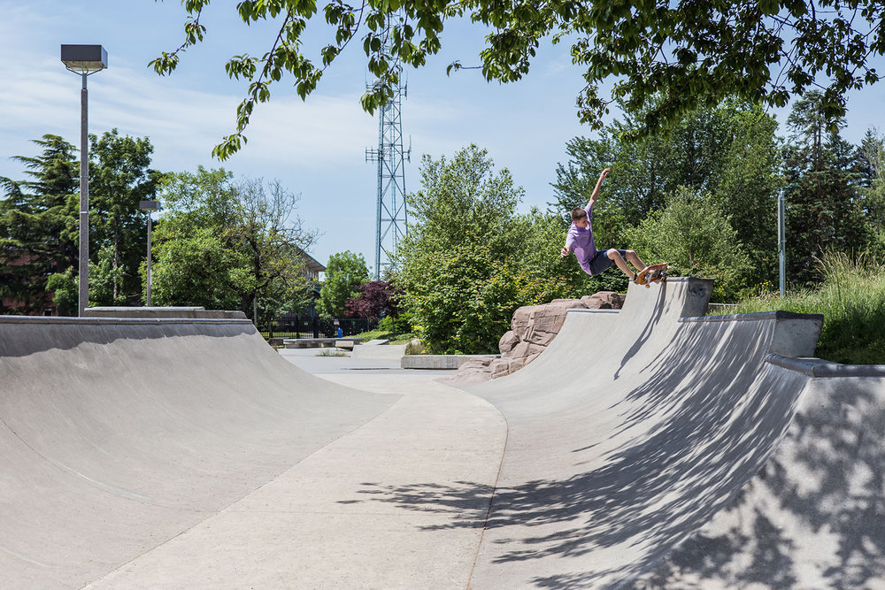 "The transitioned ""mini ramp"" section of Ed Benedict Skate Plaza is a great place to refine one's transition skills."