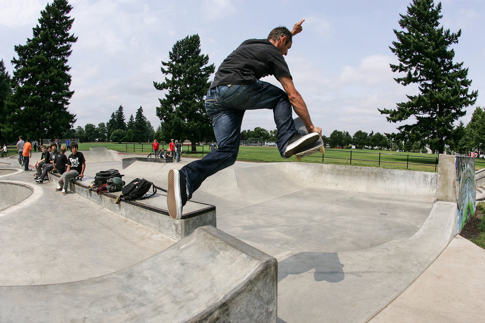 Italian pro skater Daniel Cardone takes a unique approach with this frontside boneless transfer into the street area of Glenhaven Skatepark.