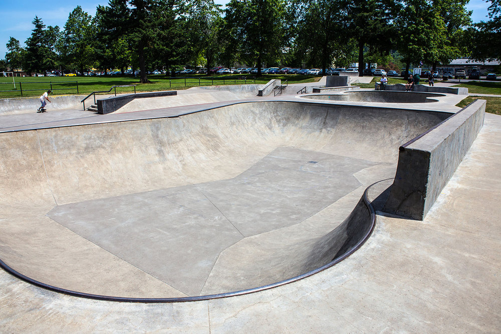 Glenhaven Skatepark's flow bowl is popular among both skateboarders and the local BMX community.
