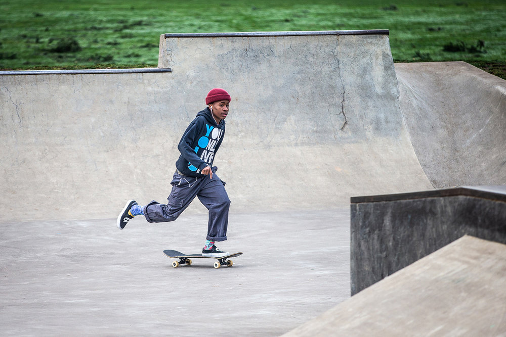 Glenhaven Skatepark offers plenty of wide open terrain for multiple users to enjoy at the same time.