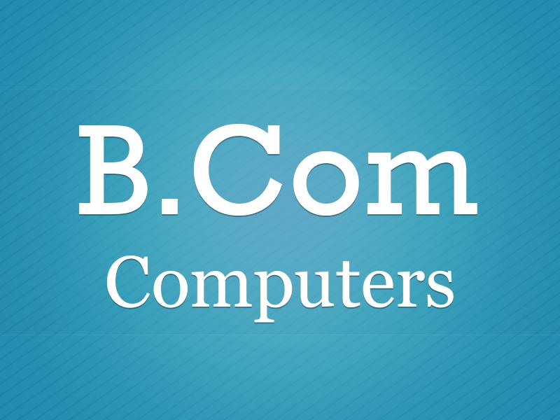 B.Com - Computer Application