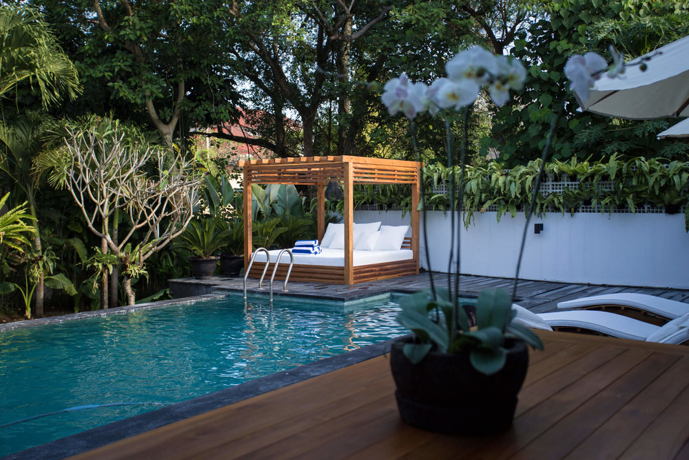 Lounge in the sun on one of two day beds dine poolside for breakfast lunch and dinner or simply spend your days in the infinity pool pretending you\u0027re ... & Outdoor \u0026 Infinity Pool \u2014 The Black Buddha Villa