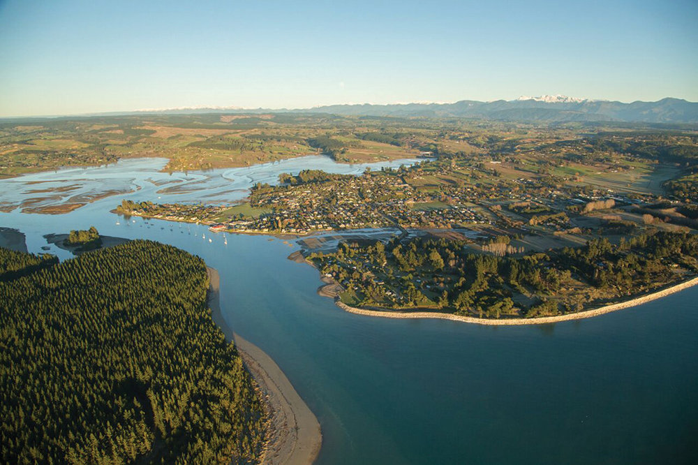 Aerial View of Mapua and the Waimea Estuary