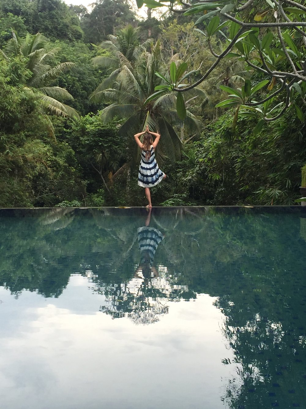 Meditation time. Balance yourself & breathe in that jungle view