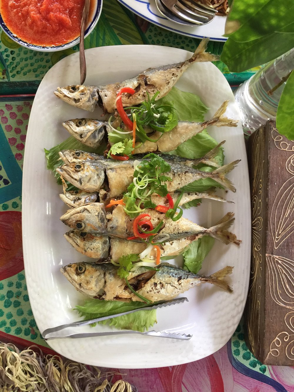 Fresh fish cooked simply local Malaysian style
