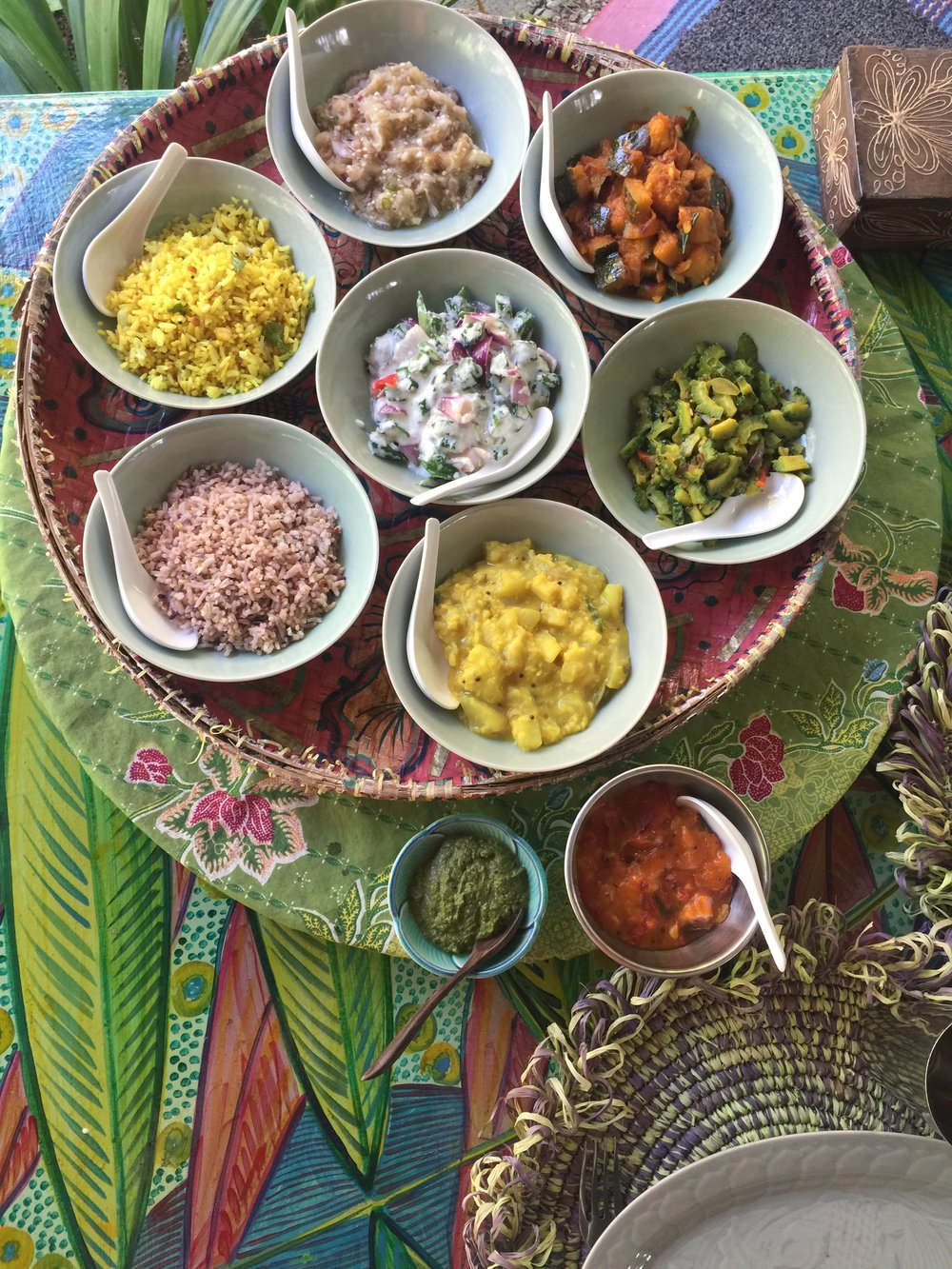 Ayurvedic dishes are an artful mix of flavors & natural colour