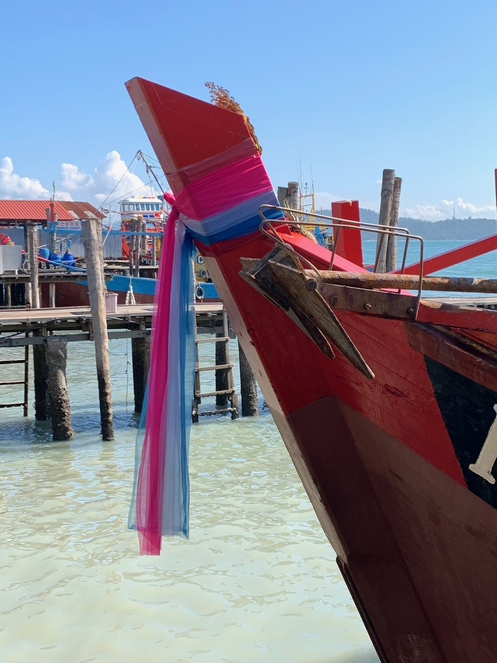 Decorated fishing boats
