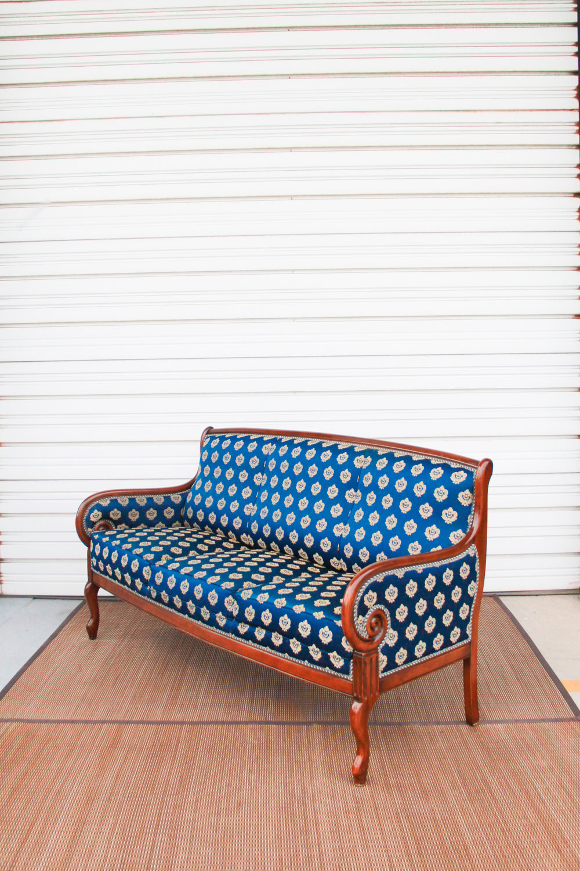 `Italian Blue Sofa