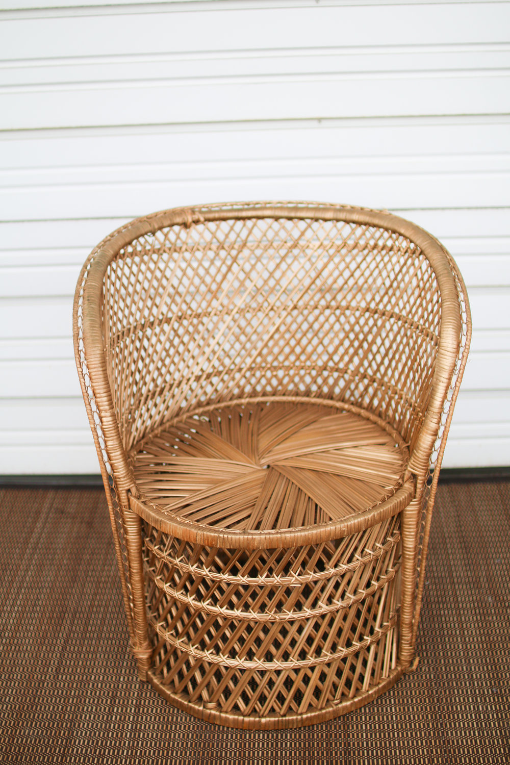 Wicker Accent Chair (Gold)