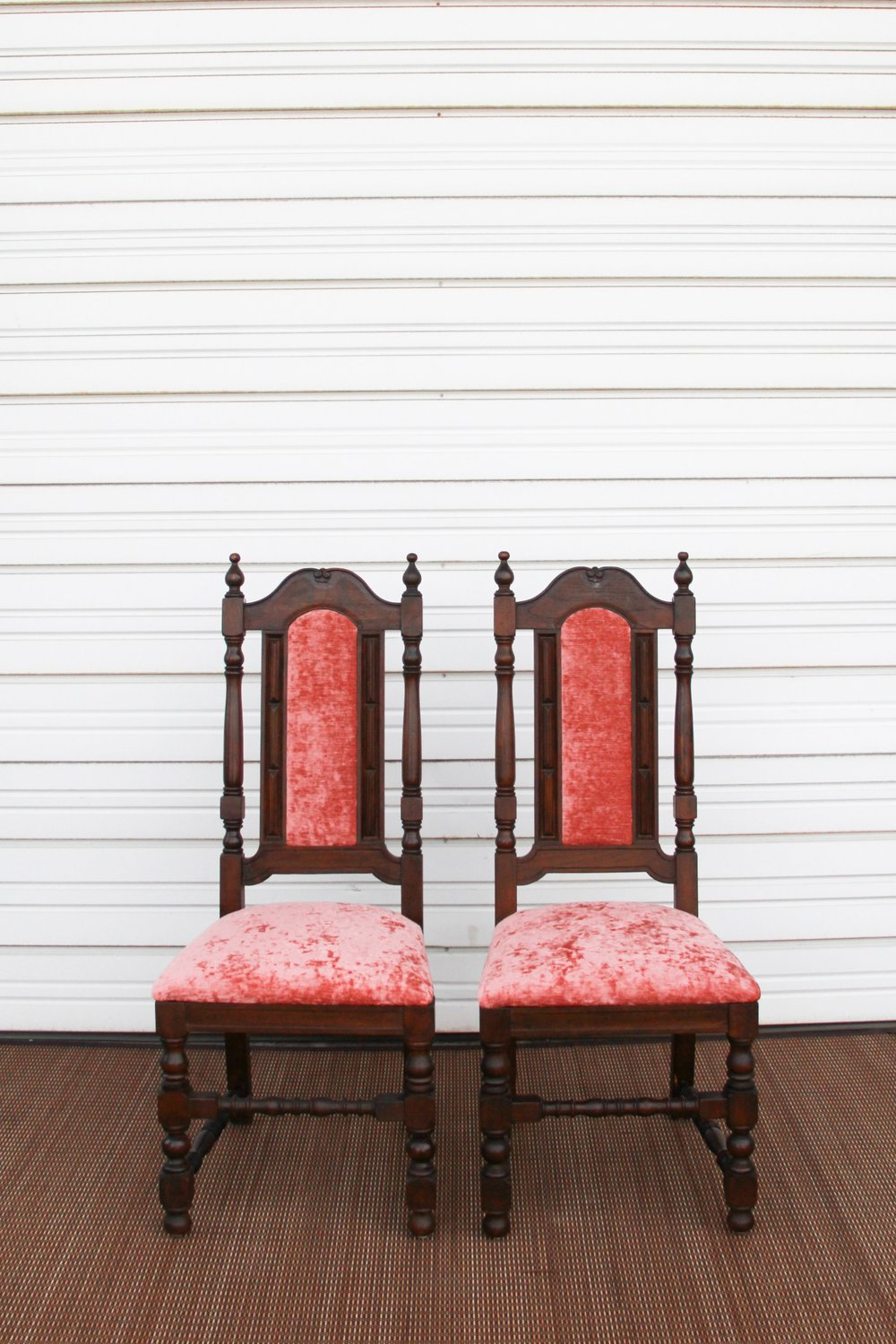 Pink Mahogany Chairs