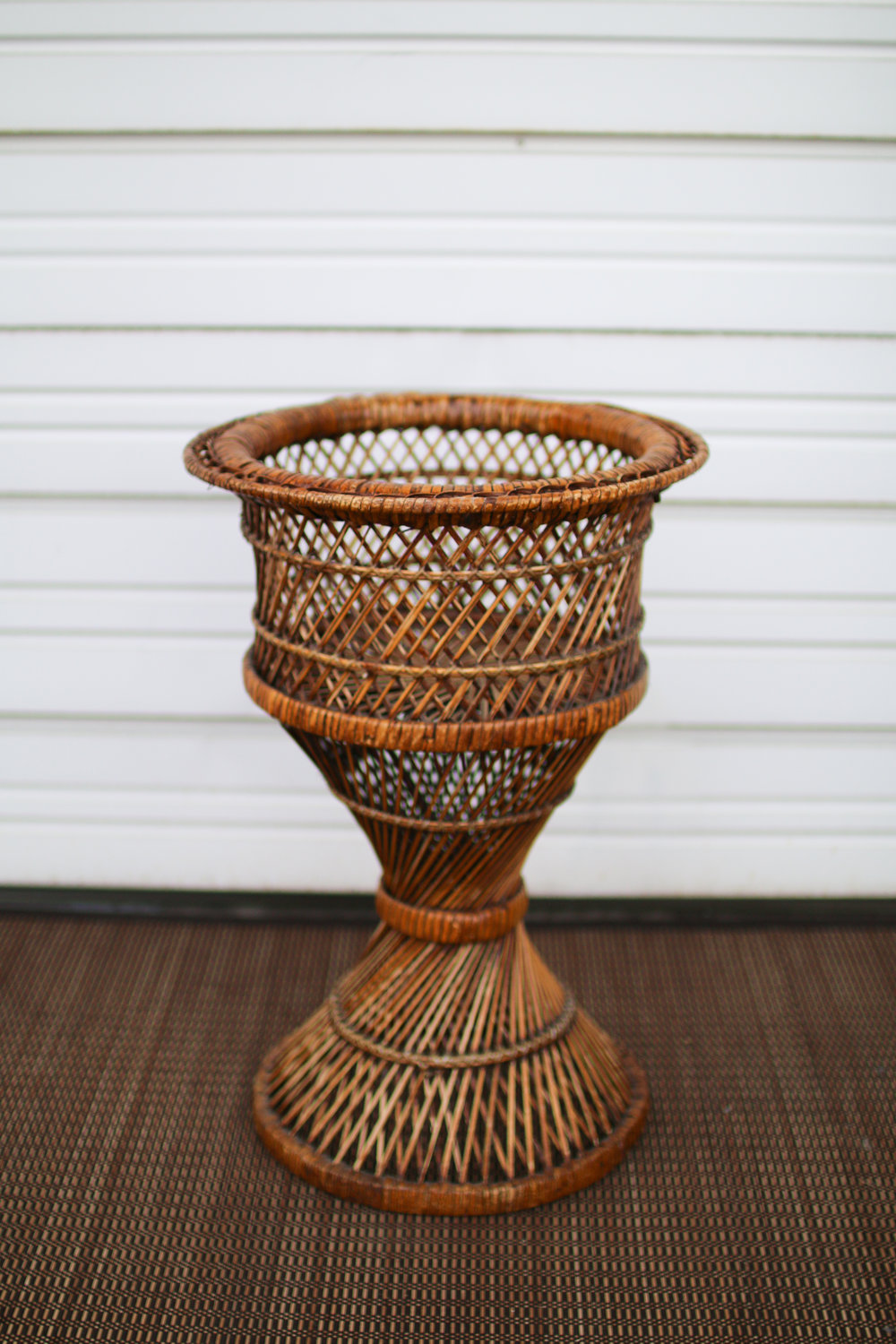 Dark Wicker Planter