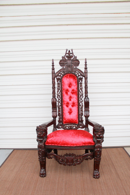 Royal Red Velvet Thrones