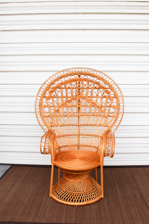 Golden Peacock Chair