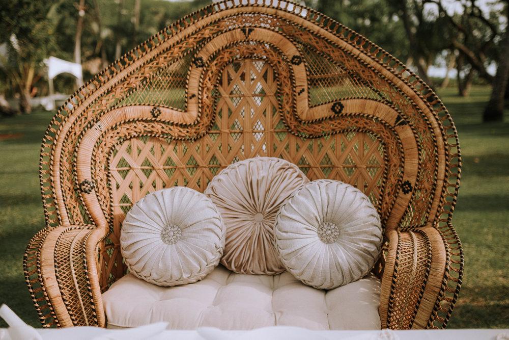 Golden Double Peacock Chair(Wicker/Loveseat)
