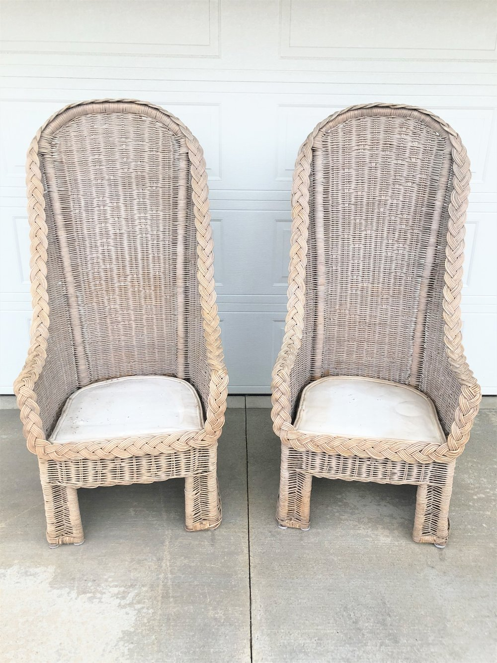 High Back Wicker Chairs