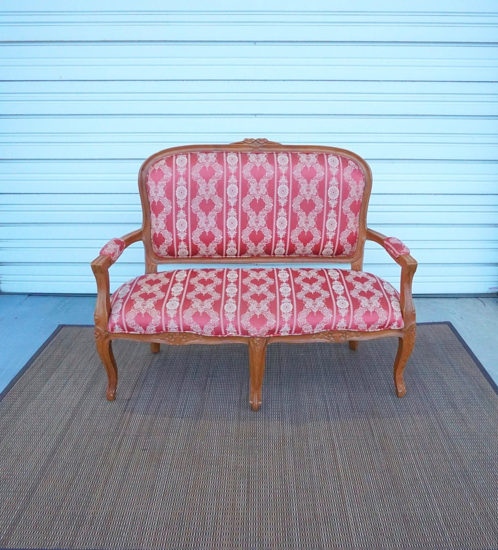 Antique Red Loveseat
