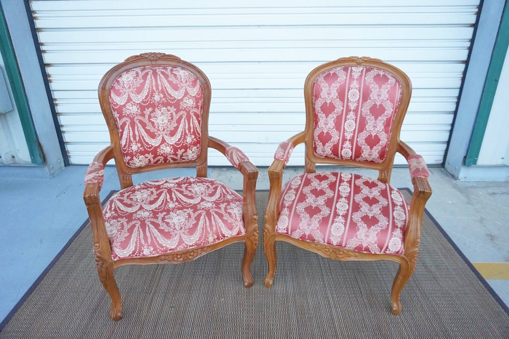Antique Red Chairs + Matching Loveseat