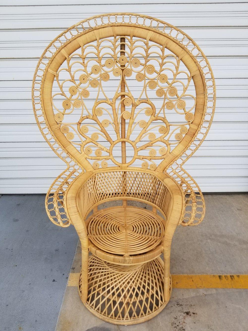 Tall Peacock Chair