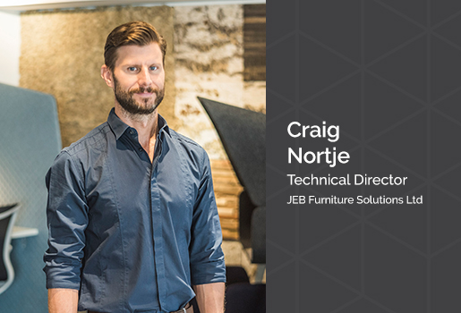 Craig Nortje is our Technical Director for JEB Funiture Solutions and an avid fitness lover
