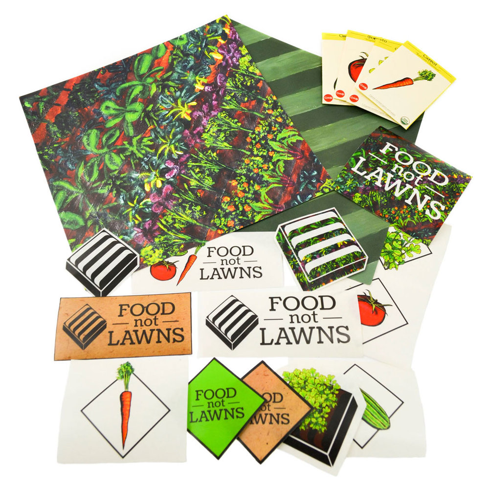 Food Not Lawns    Packaging, Branding, Illustration