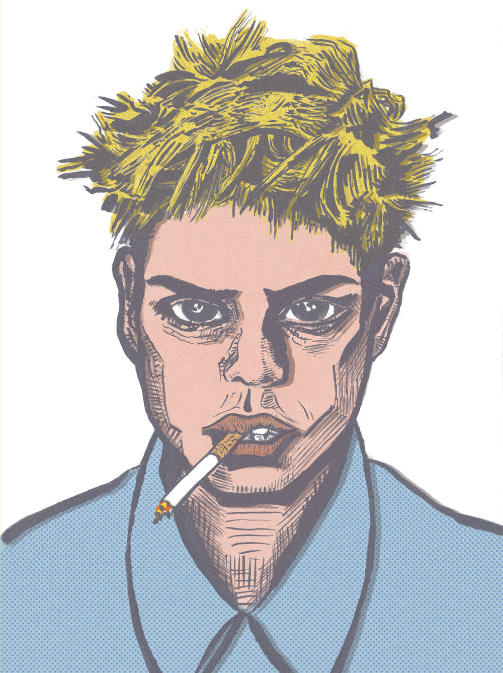 Portrait  //  brush pen, digital  //  January 2018