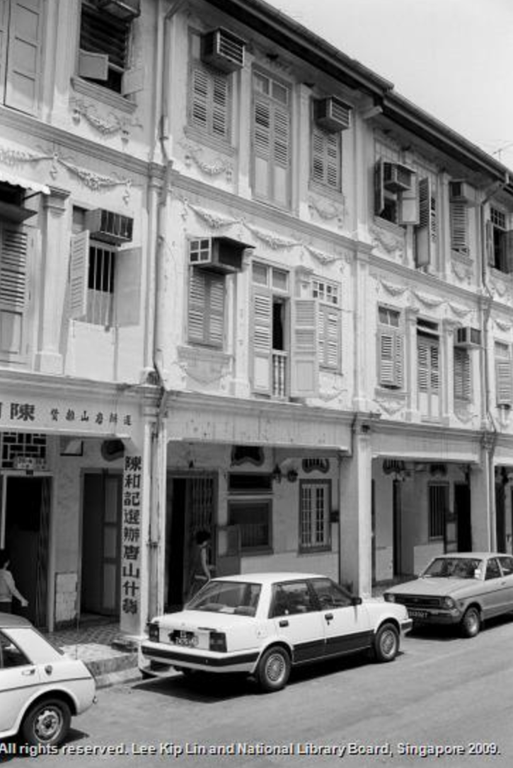 The first shophouse on the left was a Chinese sundries shop where the Chinese immigrants can get a piece of home.   *Photo credit:  National Library Board  Singapore