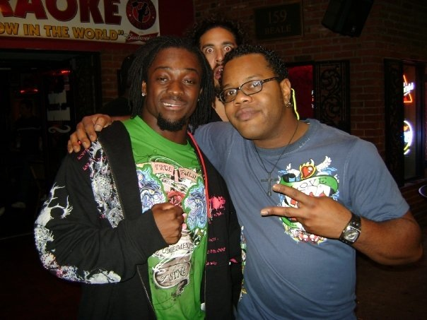 Photo bombed! Rodd with WWE KOFI Kingston