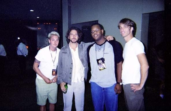Rodd with Pearl Jam at the Memphis Pyramid, 2000