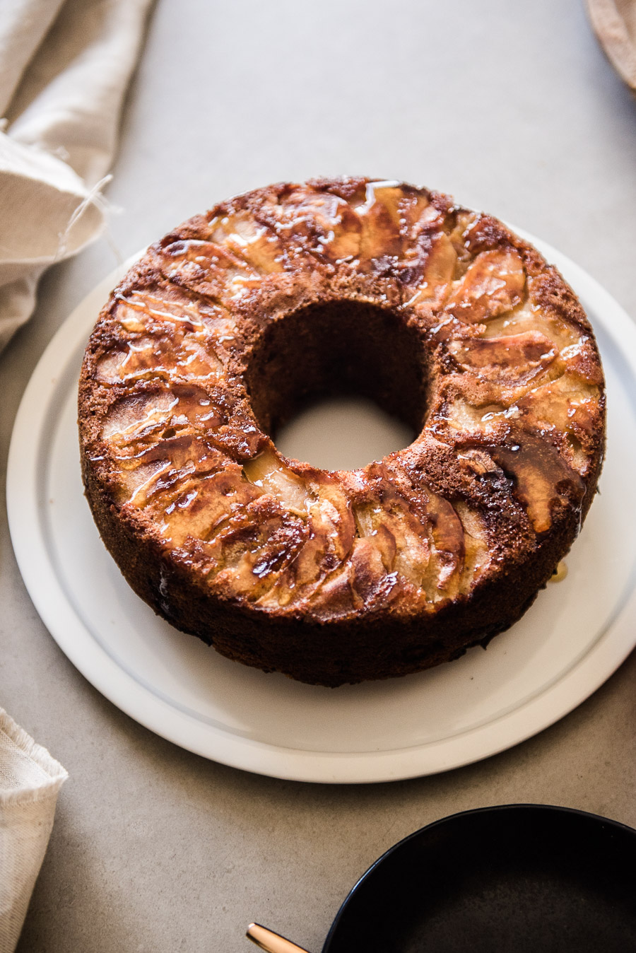 Brown Sugar Apple Cake with Burnt Honey Drizzle