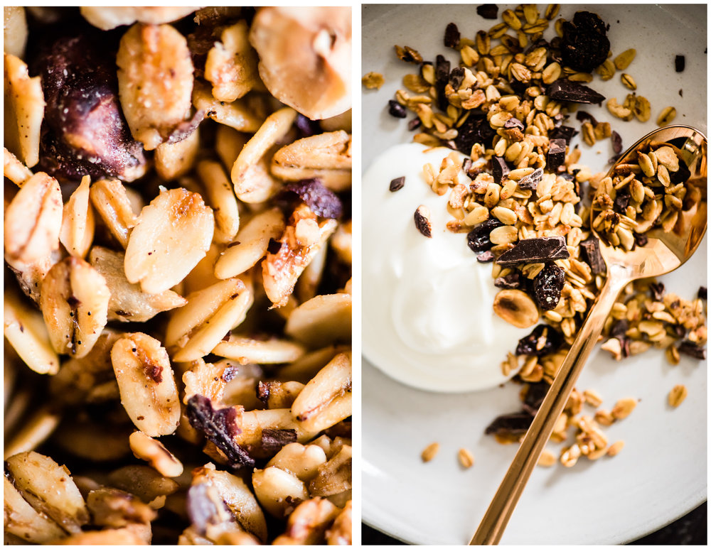 Dried Cherries, Hazelnut, Dark Chocolate & Cacao Nibs Granola