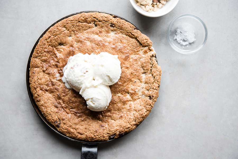 Halva Chocolate Chip Skillet Cookie