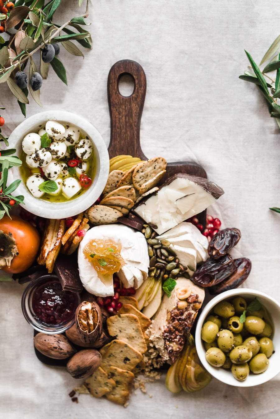 Winter Holiday Cheese Board - Gather A Table