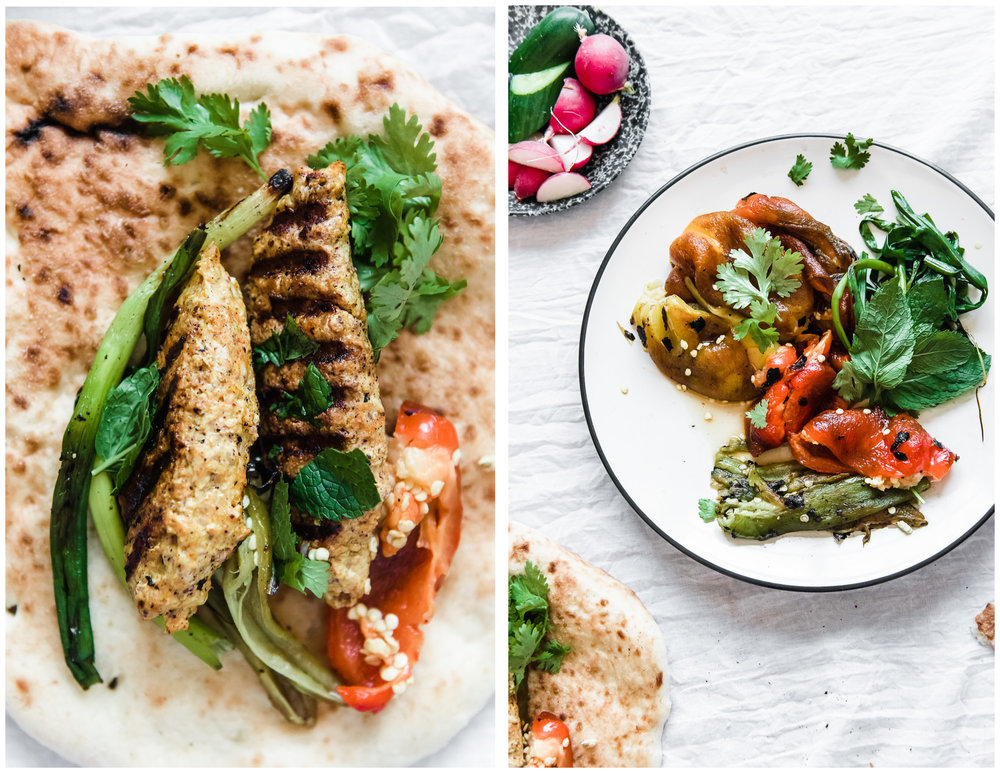Chicken Koobideh- Persian Kabobs | Gather a Table