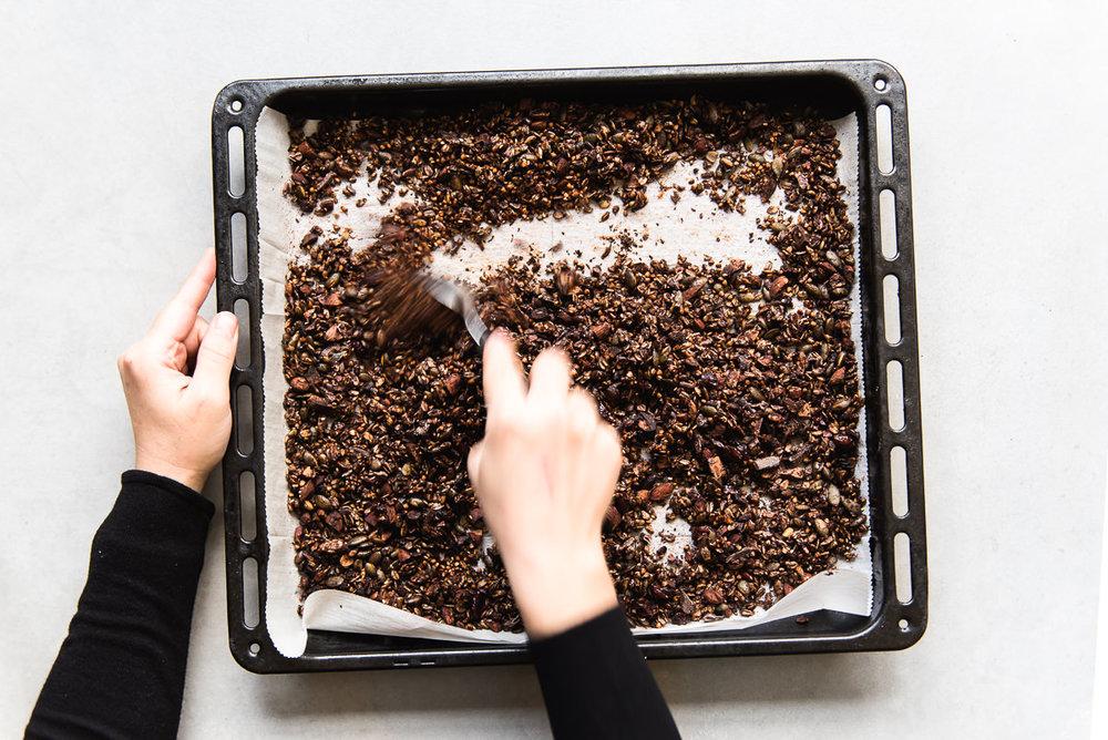 Dark Chocolate Buckwheat Granola | Gather a Table
