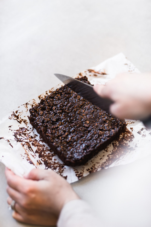 Chocolate Tahini Rice Krispies Treat | Gather a Table