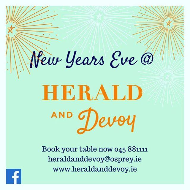 #newyearseve #heraldanddevoy #ospreyhotel #celebrate #ringinthenewyear