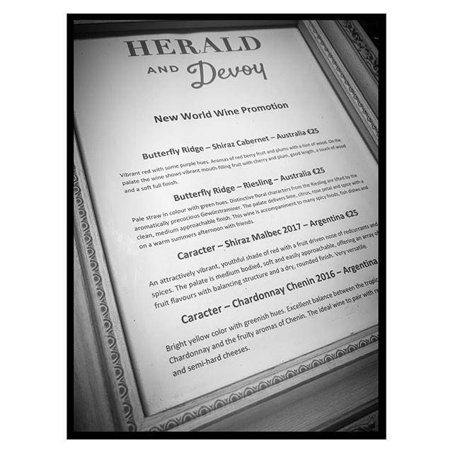 #newworldwines #heraldanddevoy #wine #redorwhite