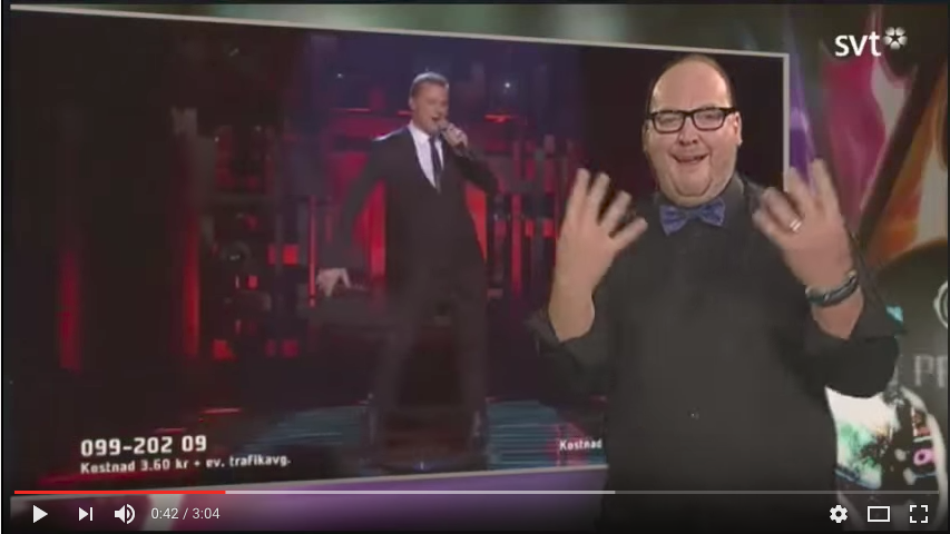 Sign Language interpreter on Television