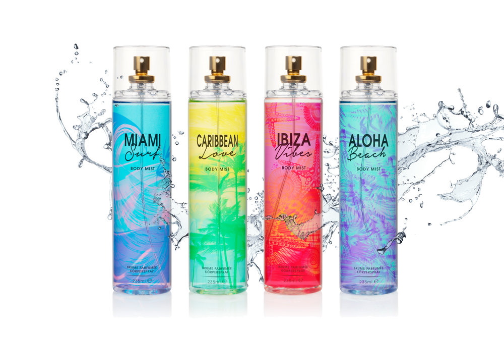 Fragrance Body Mists  - Action