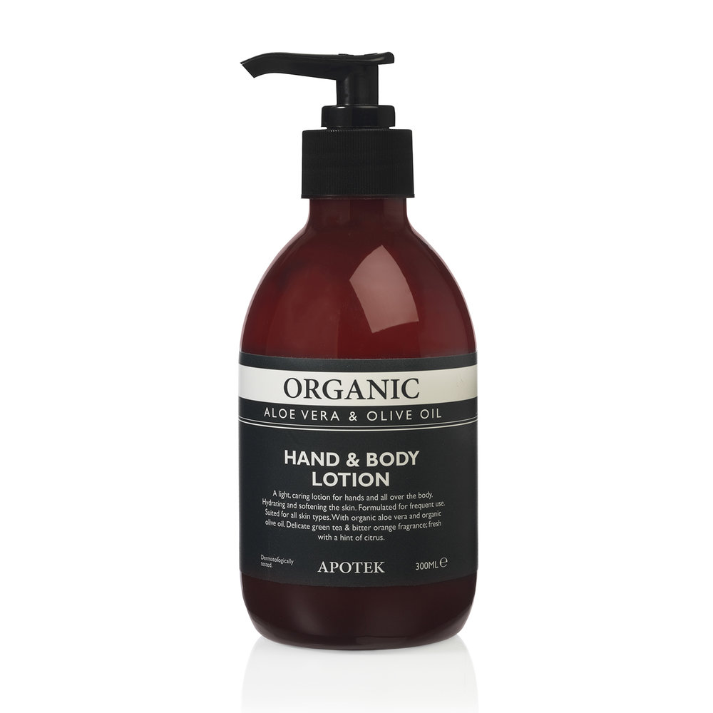organic hand&body lotion aloe vera&olive oil