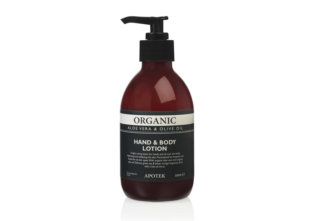 Apotek Organic Bath - & Body Care | Hand & Body Lotion Aloe Vera & Olive Oil