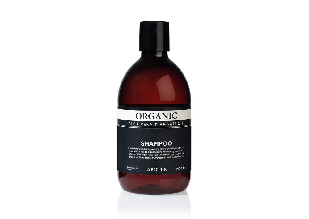 Apotek organic shampoo aloe vera & argan oil