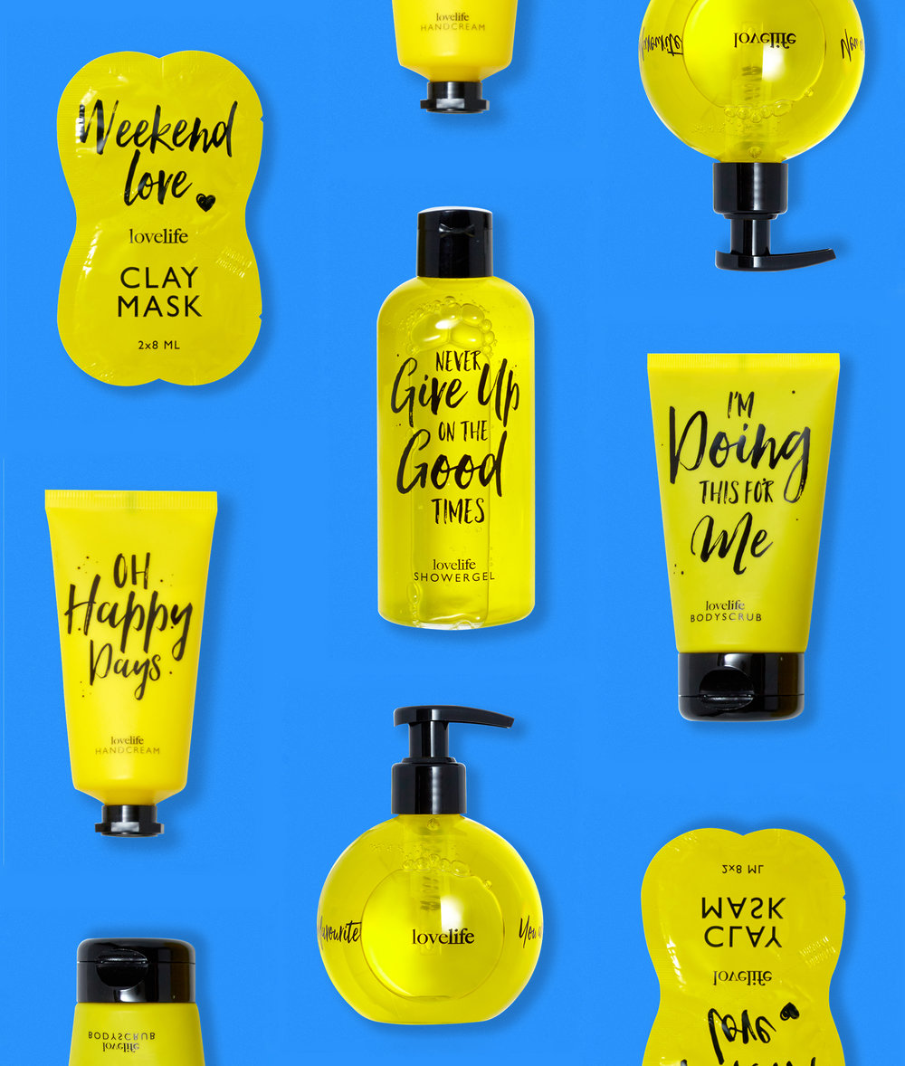 Lovelife Bath- & Bodycare Yellow Series