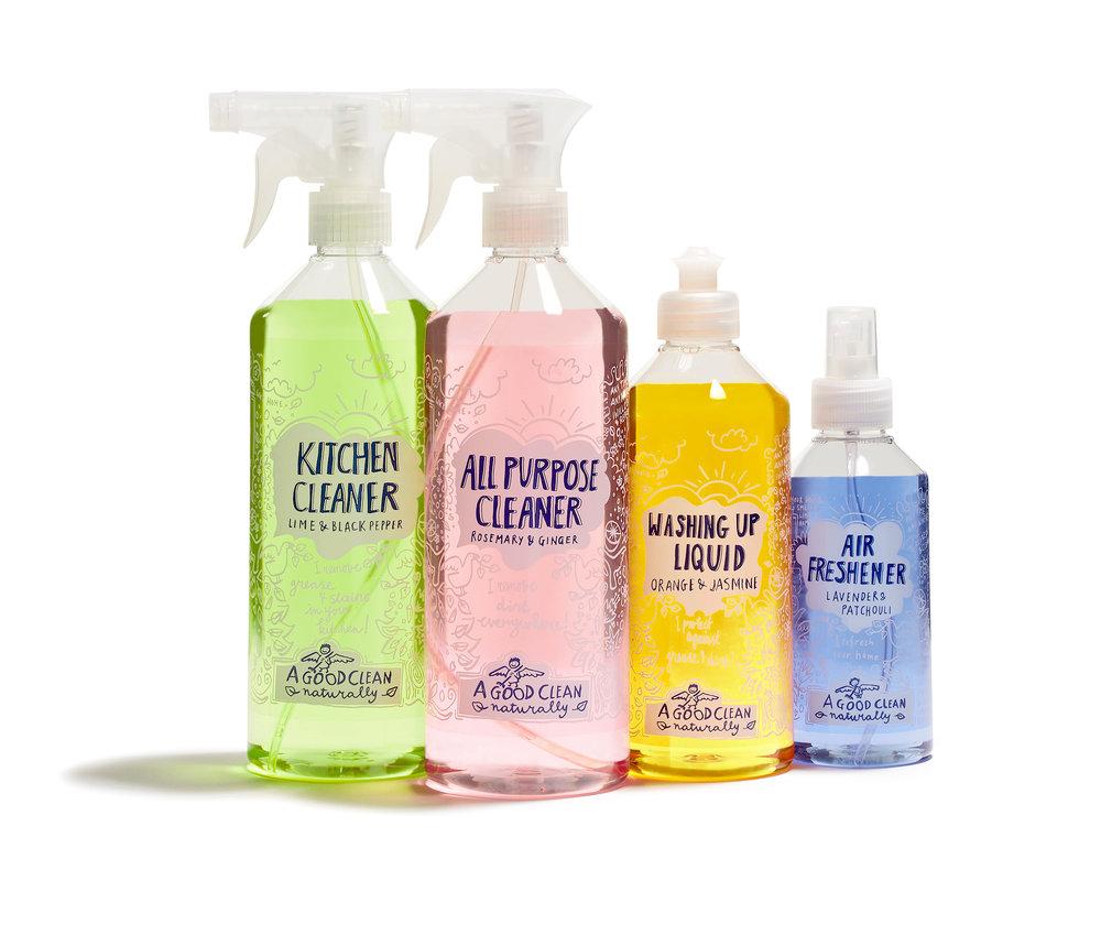 A Good Clean natuurlijke schoonmaakmiddelen