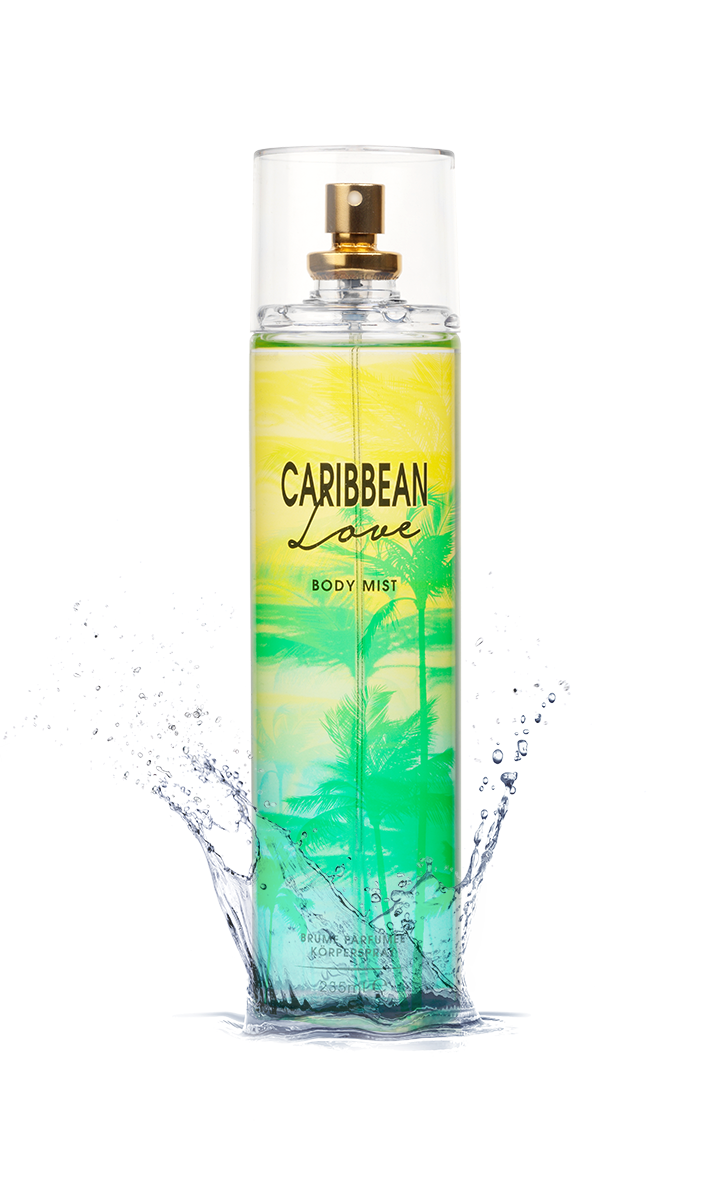 Carribean Love Fragrance Body Mist Action