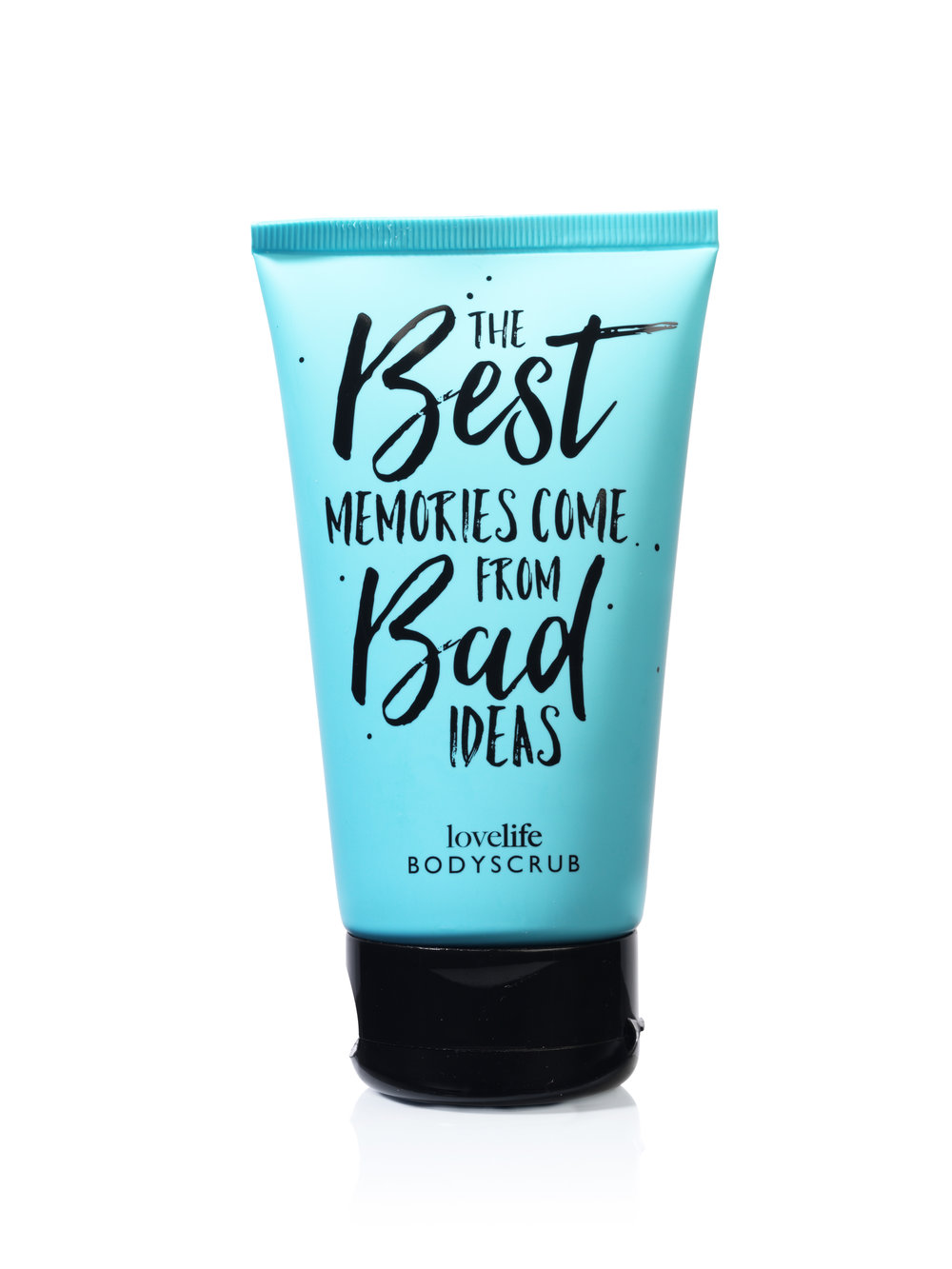 Lovelife Blue Body Scrub The Best Memories Come From Bad Ideas
