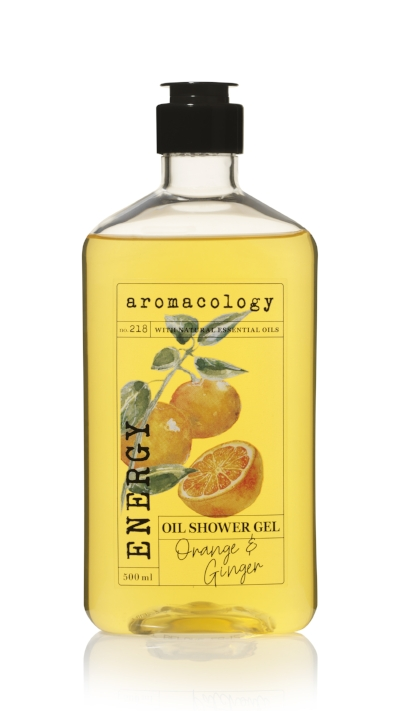 Aromacology Oil Shower Gel Orange and Ginger