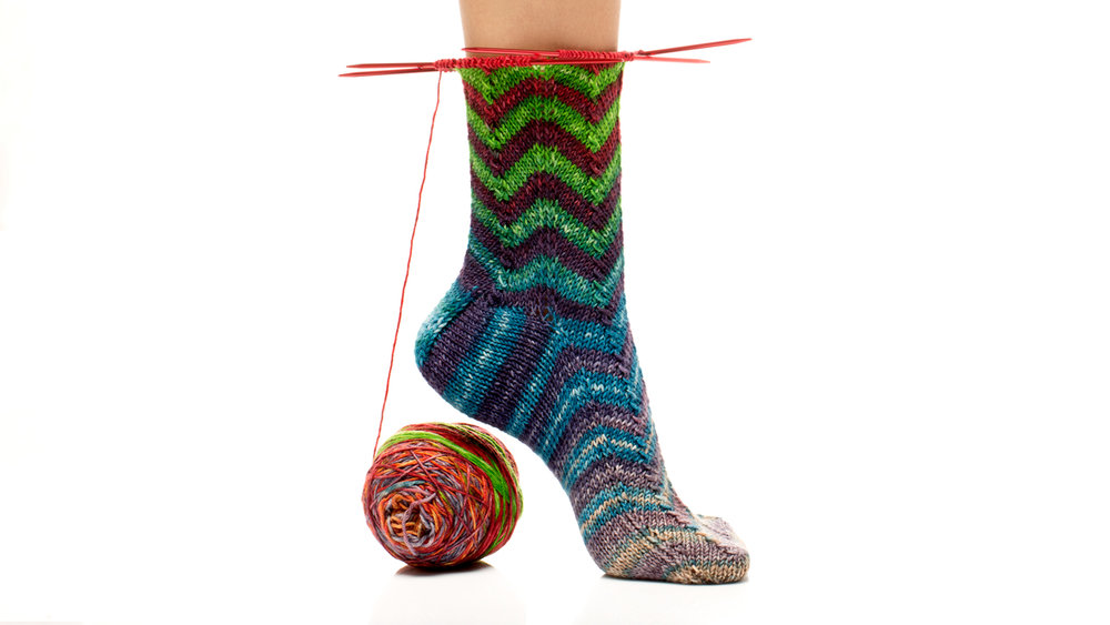 Chevron Striped Sock