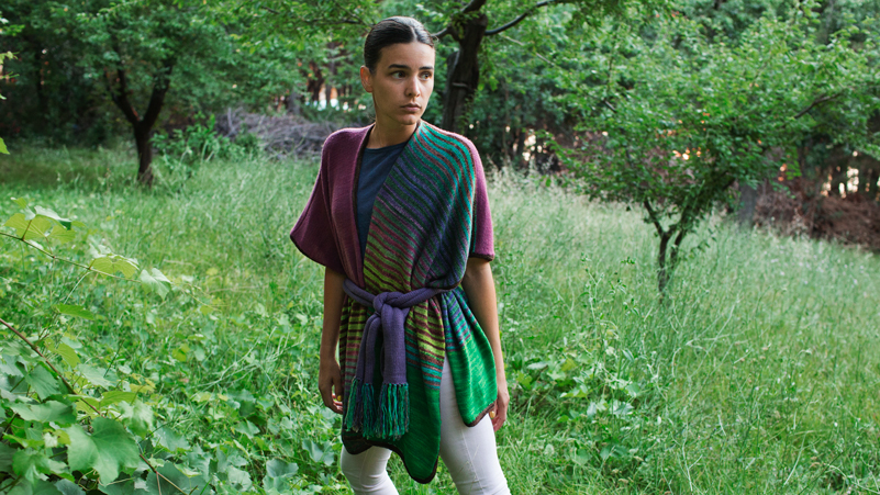 Uneek Tri Color Ruana by Patricia Jacobson