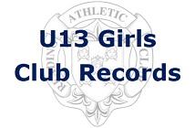 U13 Girls Club Records